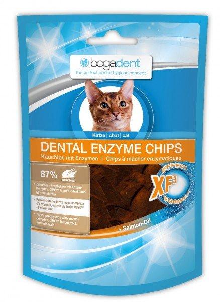 bogadent DENTAL ENZYME CHIPS CHICKEN 50g Zahnpflege Kauartikel Nahrungsergänzung für Katzen