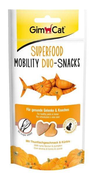 GimCat Superfood Mobility Duo-Snacks mit Thunfischgeschmack & Kürbis 40g Katzensnack