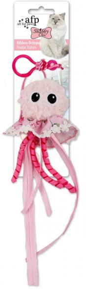 all for paws (afp) Shabby Chic Ribbon Octopus Katzenspielzeug