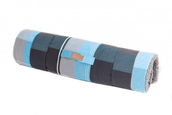 Petlando Reisematte Travelmat 100 x 70 cm karo blau