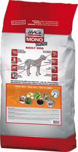 MAC's Dog Mono Ente & Kartoffeln Hundetrockenfutter